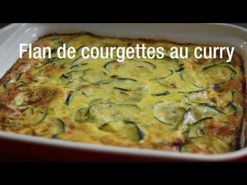 Recette de flan de courgettes au curry