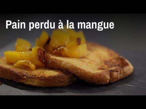 Recette du pain perdu à la mangue caramélisée