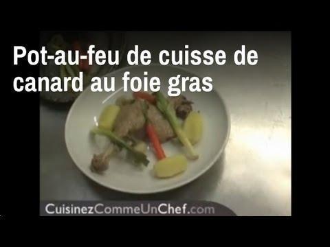 recette de chef pot au feu de cuisse de canard ar 244 matis 233 au foie gras sur orange vid 233 os