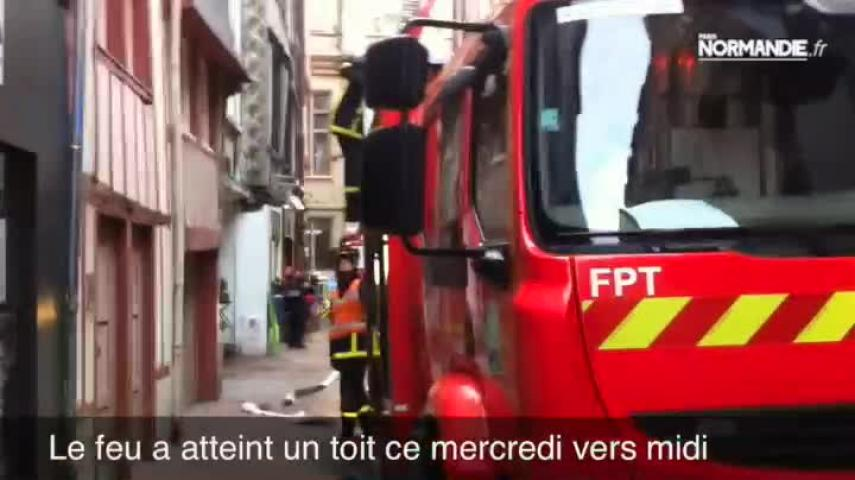 Un début d'incendie à Rouen