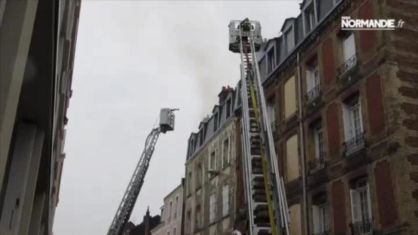 Incendie de combles au Havre
