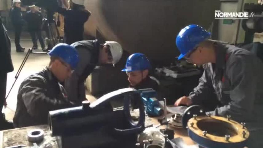 La centrale thermique EDF du Havre accueille un chantier école mené par l'AFPI