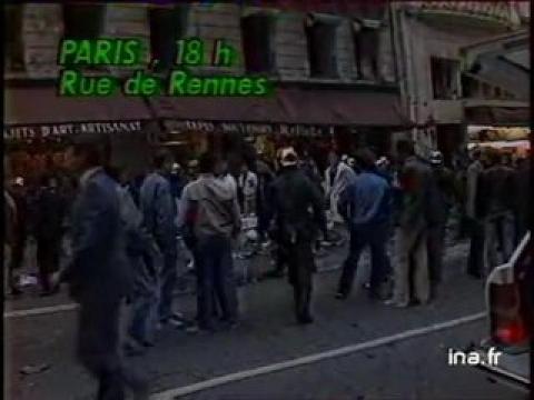 20h antenne 2 du 17 septembre 1986 attentat rue de rennes archive ina sur orange vid os. Black Bedroom Furniture Sets. Home Design Ideas