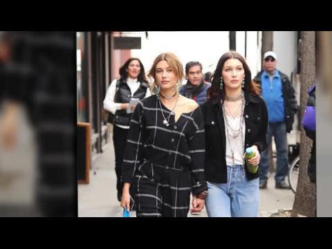 Bella Hadid et Hailey Baldwin en pause après une séance photo
