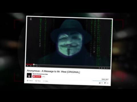 Les pirates Anonymous attaquent Kanye West dans une nouvelle vidéo
