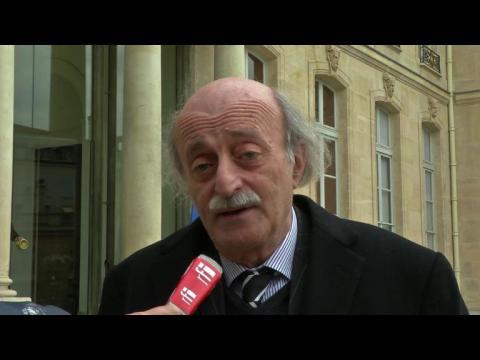 Le chef des druzes du Liban reçu à l'Elysée