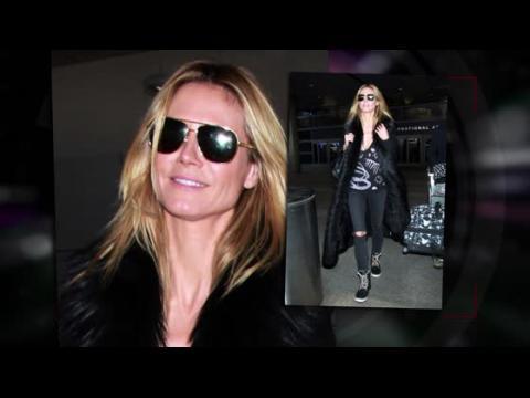 Heidi Klum retourne à Los Angeles après un week-end romantique à la neige avec Vito Schnabel