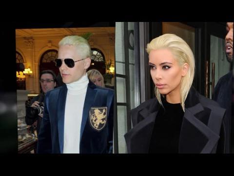Kim Kardashian et Jared Leto passent au blond platine