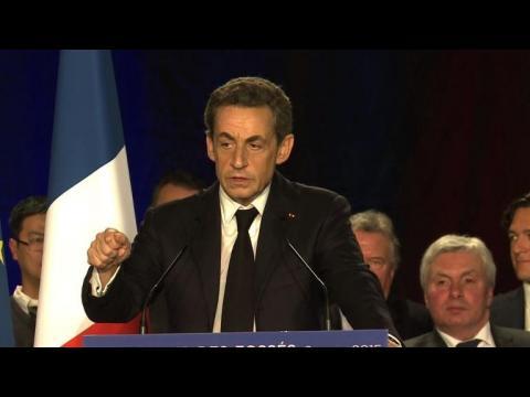 Départementales: Nicolas Sarkozy en meeting dans le Val-de-Marne