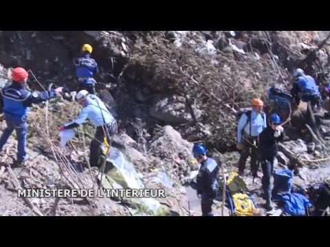 Crash de l'A320 : les premières images au sol diffusées