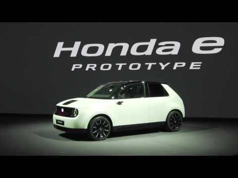 Honda E Prototype presented at the 2019 Geneva Motor Show
