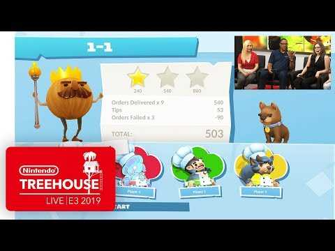 Overcooked! 2: Night of the Hangry Horde DLC Gameplay - Nintendo Treehouse: Live | E3 2019
