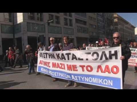 Protests against pension reform in Greece