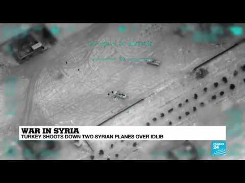 War in Syria: Turkey shoots down two Syrian planes over Idlib
