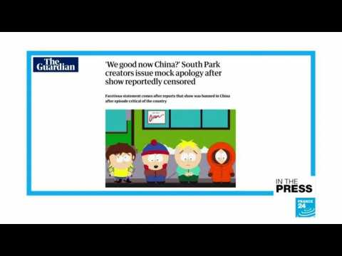 """'We too love money more than freedom!:"""" South Park throws shade at China after show is censored"""