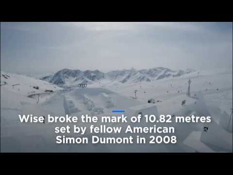 Watch: Olympic champion skier Wise sets new quarterpipe height world record