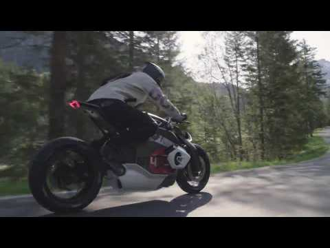The BMW Motorrad Vision DC Roadster Driving Video