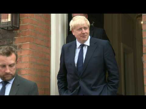 Boris Johnson leaves his campaign headquarters ahead of Conservative leadership results