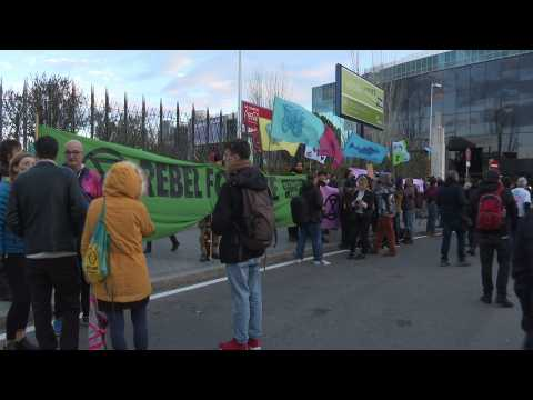 Extinction Rebellion activists protest at COP25 in Madrid