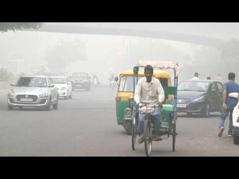 Protest for action against pollution as Delhi chokes under smog