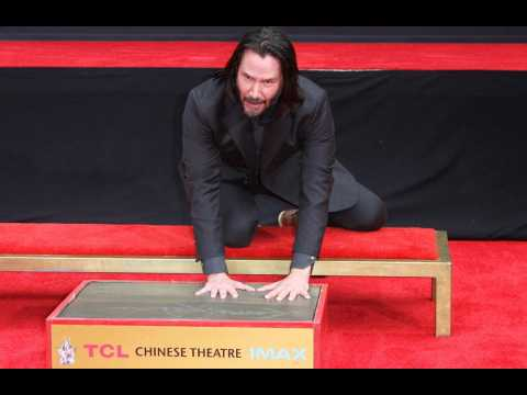Keanu Reeves immortalised at TCL Chinese Theatre