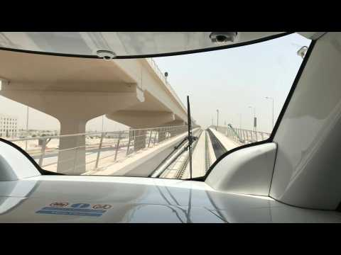 Residents of Qatar get their first ride on the new Doha metro