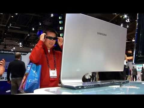 Samsung CES 2011: 9 Series 3D Monitor with 3D glasses
