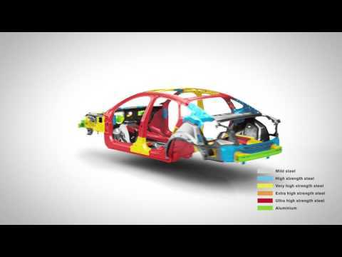 Volvo S90 Safety Cage animation with graphics   AutoMotoTV
