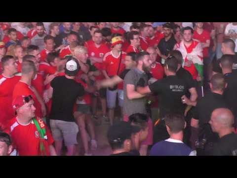 Wales and Portugal Fans Break Out Into Mass Brawl After UEFA Euro Match