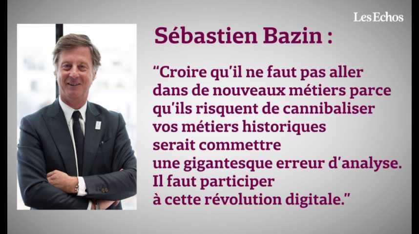 """Illustration pour la vidéo Sébastien Bazin : """"Le monde des start-up nous réveille"""""""