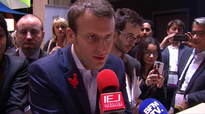 Illustration pour la vidéo Les conseils d'Emmanuel Macron aux jeunes diplômés à VivaTech