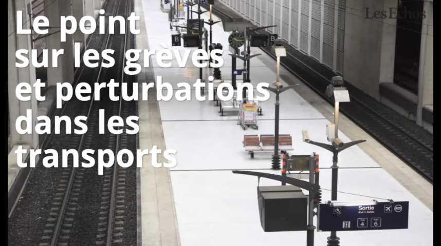 Illustration pour la vidéo Le point sur les grèves et perturbations dans les transports