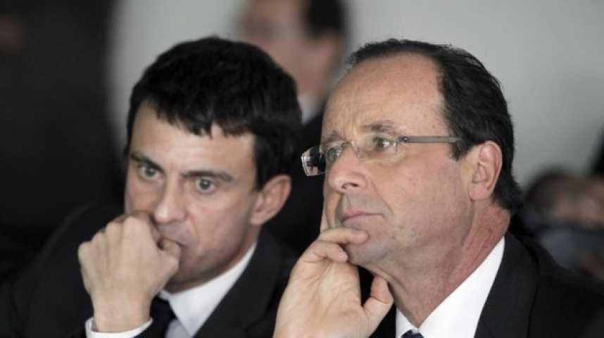 Illustration pour la vidéo Sondage : Hollande et Valls enregistre un nouveau record d'impopularité auprès des Français