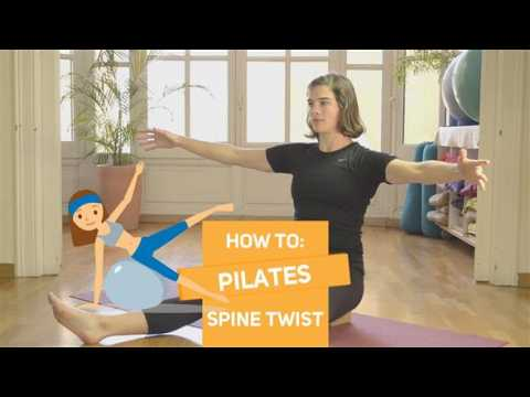 How to in 60 seconds Pilates: Spine twist