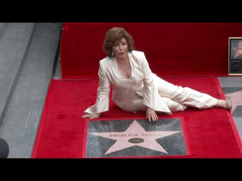 """Grammy Winning Latin Star Angelica Maria Is Serenaded At """"Walk Of Fame"""""""