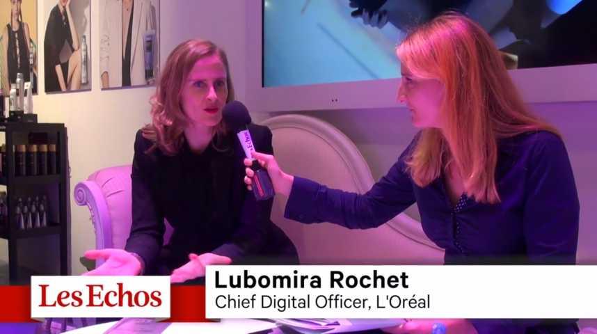 """Illustration pour la vidéo Lubomira Rochet (L'Oréal) : """"Se rapprocher des start-up innovantes et inventer les services du futur"""""""
