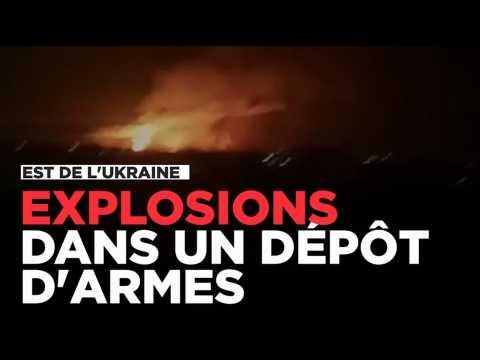 Explosion dans un dépôt d'armes et de munitions dans l'est de l'Ukraine