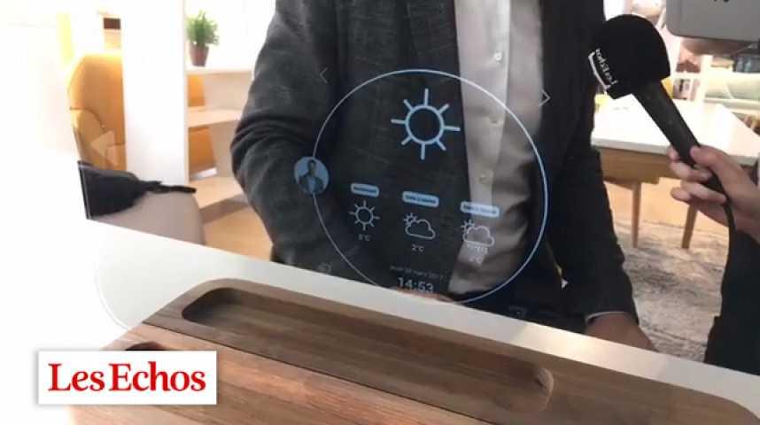 Illustration pour la vidéo Ekko, le miroir connecté de Miliboo
