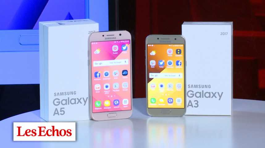 Illustration pour la vidéo Samsung A3 vs Samsung A5 : le match !