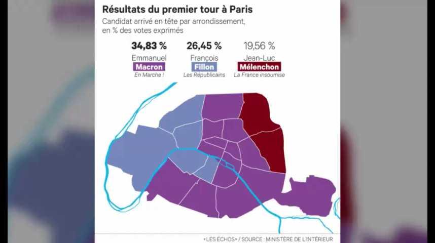 Illustration pour la vidéo Présidentielle : les surprises du vote à Paris