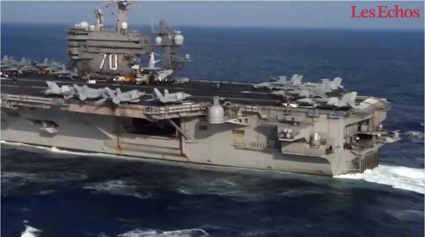 Illustration pour la vidéo La Corée du Nord menace de couler un porte-avions américain