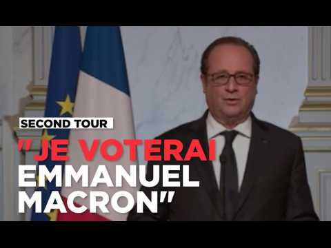 "Hollande : ""Il n'est pas possible de se taire. Je voterai Emmanuel Macron"""