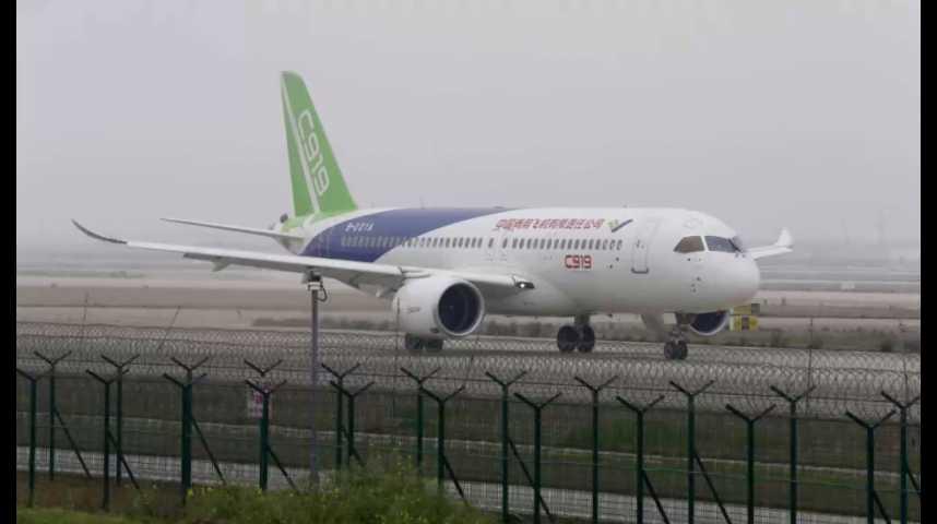 Illustration pour la vidéo Découvrez le C919, le concurrent chinois de l'A320 d'Airbus