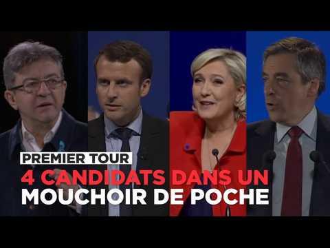 Premier tour : Macron, Le Pen, Fillon, Mélenchon dans un mouchoir de poche