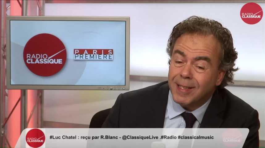"""Illustration pour la vidéo """"Emmanuel Macron prône une demi-mesure, celle là qui ralentit le pays depuis longtemps"""" Luc Chatel (14/04/2017)"""