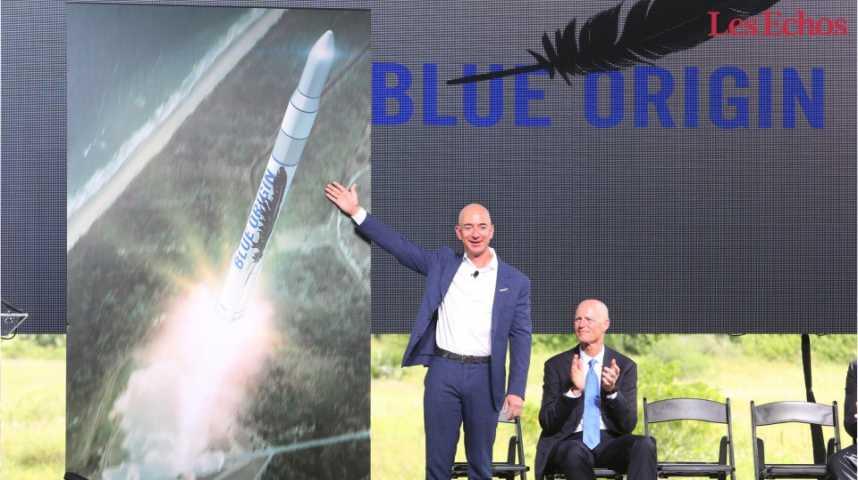 Illustration pour la vidéo Blue Origin, première compagnie à lancer le tourisme spatial ?