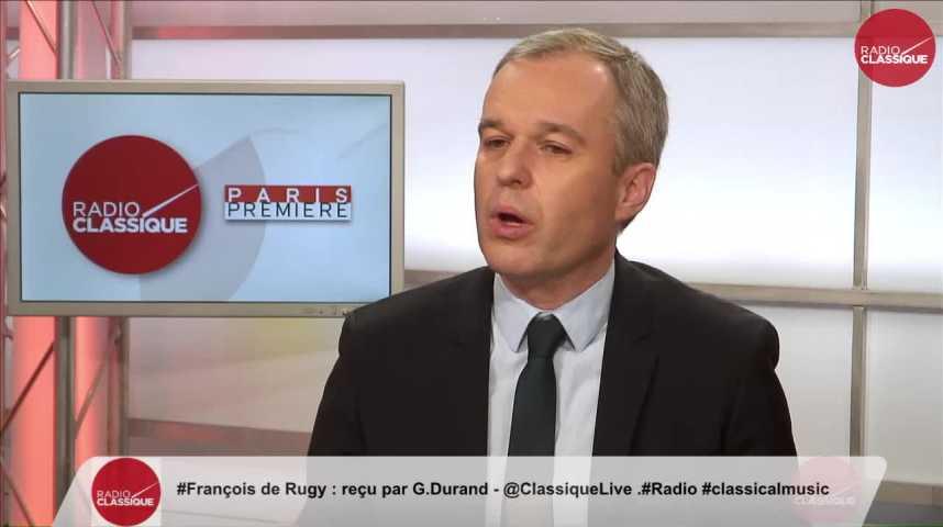 """Illustration pour la vidéo """"Il y a encore beaucoup de Français qui hésitent"""" François de Rugy (04/04/2017)"""
