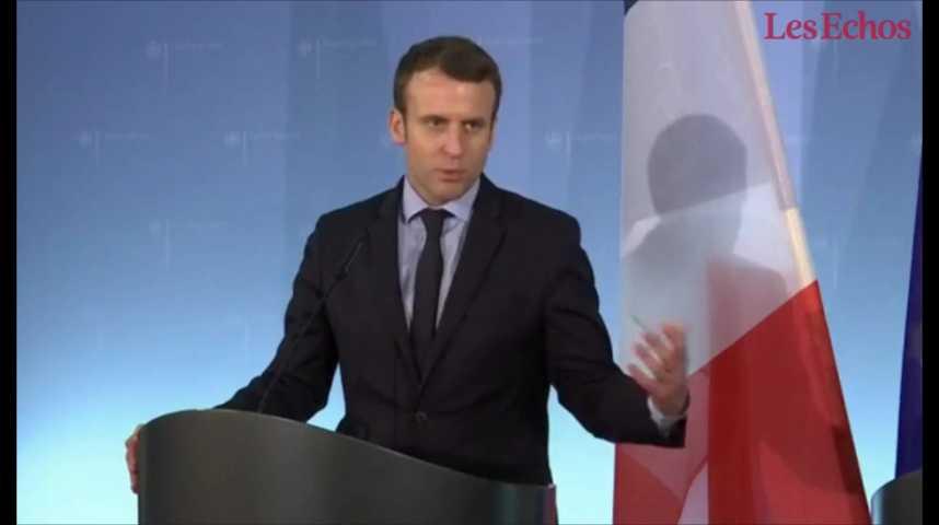 Illustration pour la vidéo Macron : « je suis le seul candidat vraiment pro-européen, et j'en suis fier »