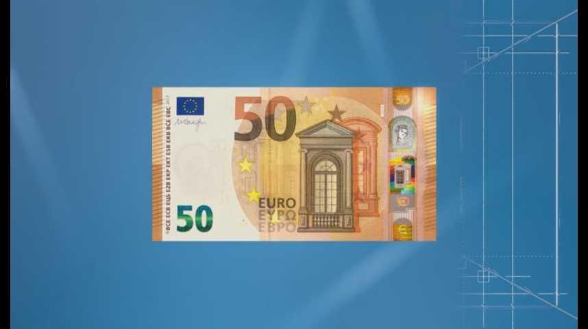 Illustration pour la vidéo Le nouveau billet de 50 euros arrive ce mardi : découvrez-le