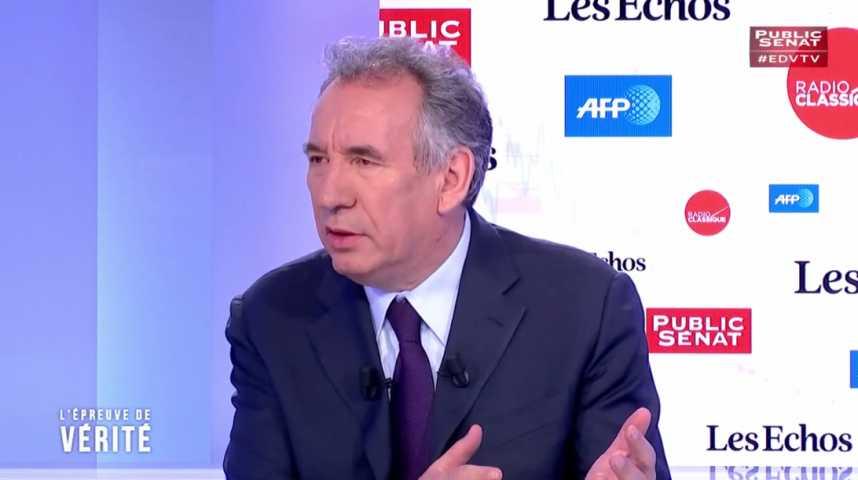 """Illustration pour la vidéo """"Cette campagne électorale est révélatrice du caractère décomposé de la vie politique française"""", estime François Bayrou"""